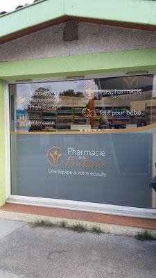 Marquage adhésif pharmacie
