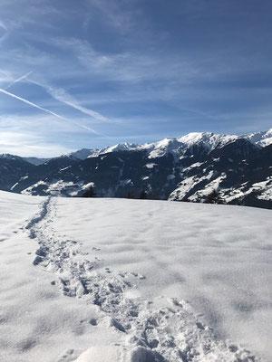 Blick auf die Berge und ins Tal