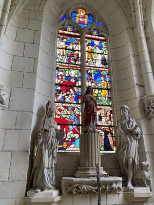 De beaux vitraux dans l'église de Rosnay-l'Hôpital