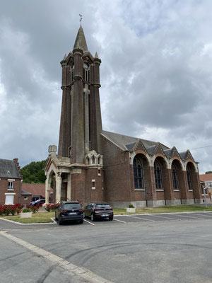 L'église de Sapignies