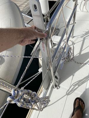 ... und einen leichten Ersatzanker habe ich nun auch an Bord (Fortress Anker 9,6 kg ... hält bombig falls der Hauptanker versagen sollte)