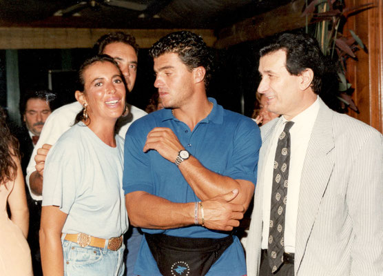 Armando Casodi, Alberto Tomba e Rosaria Panatta