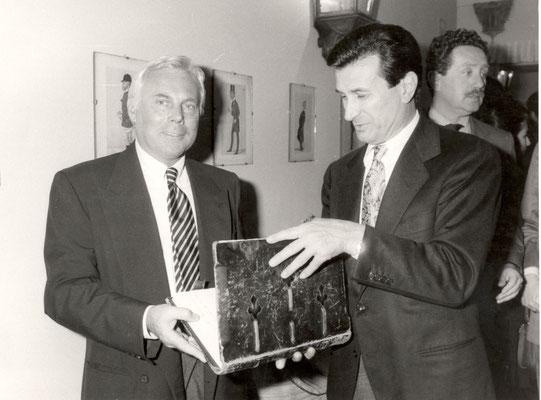 Armando Casodi con Giorgio Armani