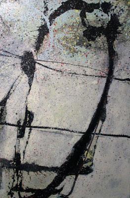 """Ellipse"", 2018, 120 x 80 cm, Acryl/Sand auf Leinwand"