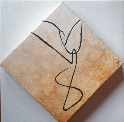 Golden Angel - Acrylic on canvas - cm 20x20
