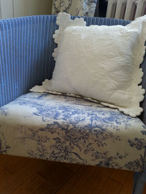 Sitzfläche mit Toile-de-Jouy