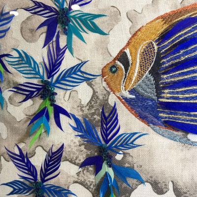 Détail du Tableau Poissons Empereurs en plumes