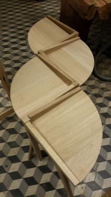 Tables d'appoint en chêne massif, quatre quart