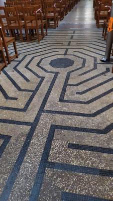 labyrinthe de Sélestat (église Ste Foy)