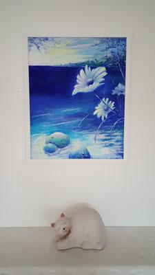 Acryl gerahmt mit Museumsglas 40×50 CHF 450.-   ohne Rahmen 350.-