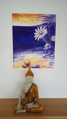 Acryl gerahmt mit Museumsglas 40×50 CHF 450.- | ohne Rahmen 350.-