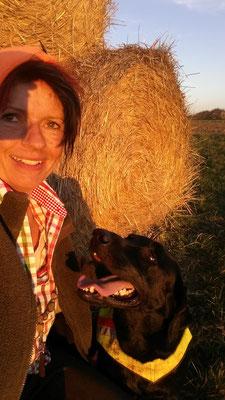 Ledger und das Frauli nach einer Jagd im Burgenland .... einfach nur HAPPY