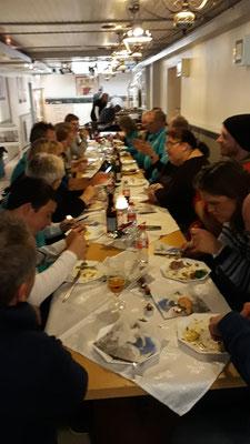 Gemeinsames Abendessen nach der Ausstellung