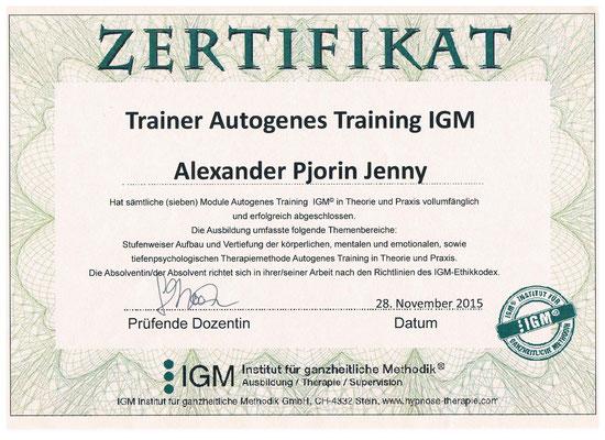 Mastercoach für Autogenes Training IGM