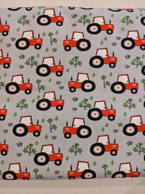 Traktor auf grau