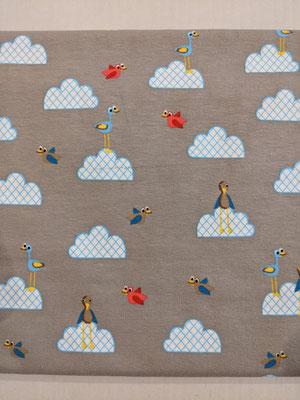Vögel in den Wolken