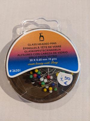 Stecknadeln Glas - 4,50€