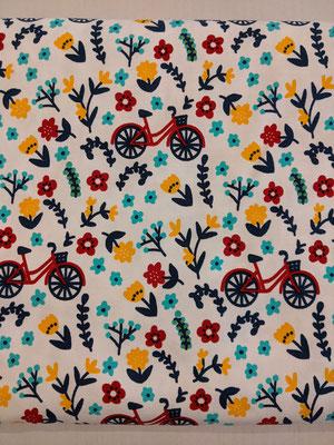Fahrrad im Blumenbeet