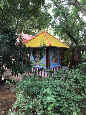 Our little Ganesha temple nested next to the Prayer Hall