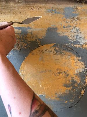dasBlaue I 100x80x3,5 Acryl auf Leinwand