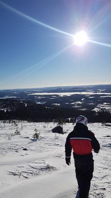 Lapplands Winterlandschaft