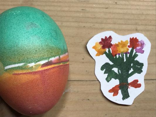 Blumen mit Osterei (Miniature) 2