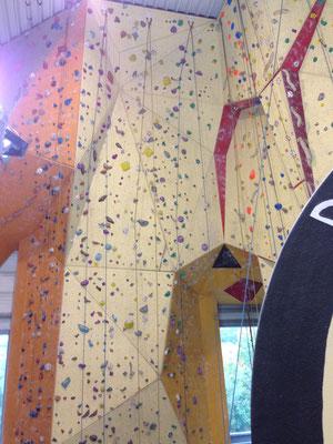 Viele Abwechslungsreiche Strecken. Für manche brauchst du richig viel Kraft wenn du plötzlich nur noch die Arme zum klettern hast und deine Beine in der Luft pendeln^^