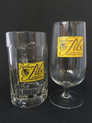 OE049,OE050,  Brauerei Kapsreiter, Schärding, OÖ + 2012  (Glas von ca. 1970)