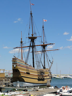 Nachbau der Mayflower in Plymouth