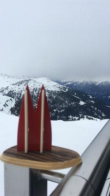 Österreich: Zillertal, Königsleiten. Skigrüße von Nicolai