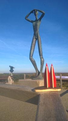 """Spiekeroog, Statue """"De Utkieker"""" (Friedbert)"""