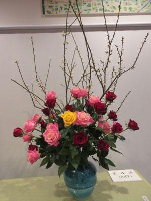 屋内の生け花