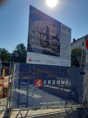 Bauschild miet konstruktion mobil 4x3m Unterhaching