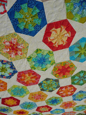 Detail vom Hexagonquilt