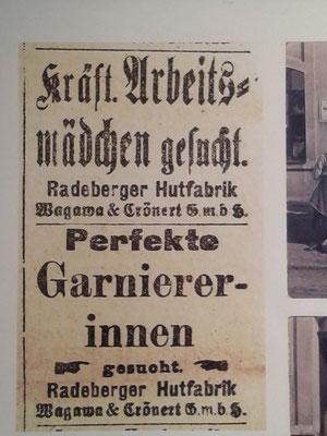 """Ausstellungen zu speziellen Themen werden regelmäßig organisiert. Hier Beispiel """"Hutindustrie in Radeberg"""" Juni 2018."""