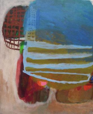 Gefüge 67, 2020, Acryl auf Leinwand, 55 x 45 cm