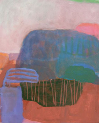 Gefüge 63, 2020, Acryl auf Leinwand, 55 x 45 cm