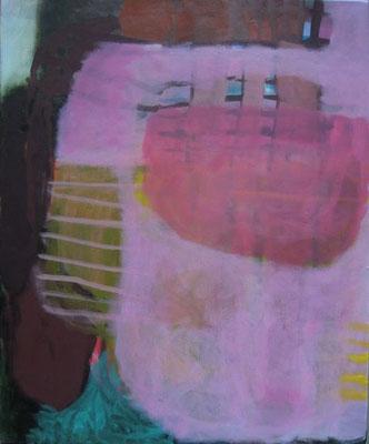 Gefüge 68, 2020, Acryl auf Leinwand, 55 x 45 cm