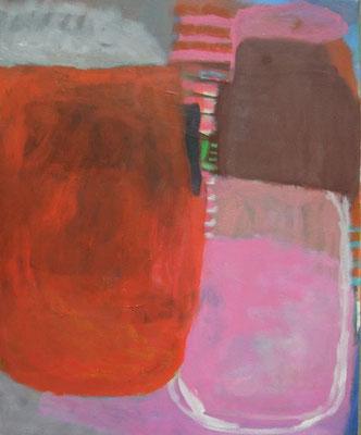Gefüge 66, 2020, Acryl auf Leinwand, 55 x 45 cm