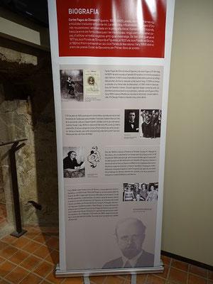 Stellwand in der Fages-Ausstellung