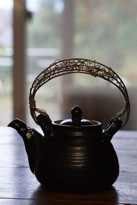土鍋 耐熱 土瓶土鍋 真鍮 作家 陶芸家 仲本律子 笠間