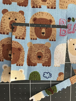 Fussy Cut kostenlose Anleitung Babyquilt