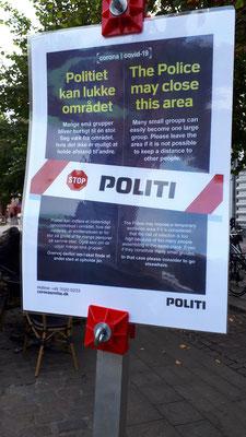 Warnhinweise der Polizei an ausgewählten Orten/Straßen