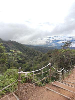 Wanderung auf den Mount Kinabalu, Sabah, Borneo, Malaysia