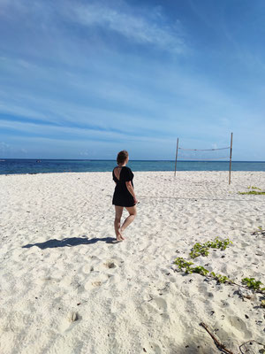 Strandspaziergang, Sipadan, Sabah, Borneo, Malaysia