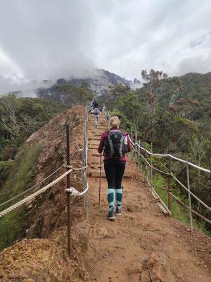 Ich, bei der Wanderung auf den Mount Kinabalu, Sabah, Borneo, Malaysia
