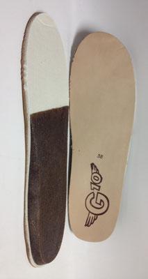 Waldviertler Leder Fußbett Einlage * Beratung und Tipps zu diesem Produkt erhalten Sie im Geschäft