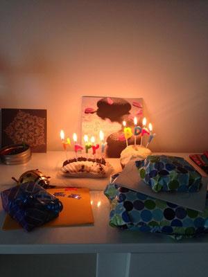 Geburtstagsfest im kleinen Rahmen.