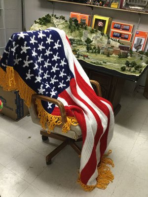 U.S. Flag Blanket (covers the top of a queen size bed)