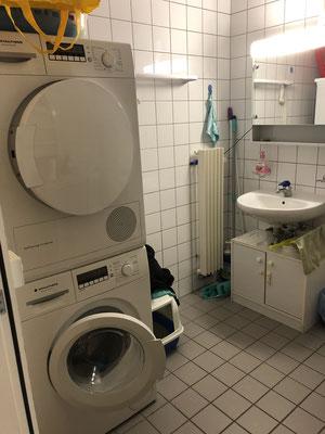 Toilette im EG mit Waschturm
